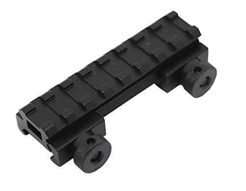 Zengi 1/2-inch High 8-slot Flat Top Riser Mount, Picatinny Rail