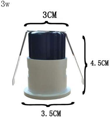 Color : White Light, tama/ño : 3w Modenny 3W Dimmable COB LED Empotrable Gabinete Mini Spot Light 110V 220v Mini Downlight Cuerpo Redondo Blanco Incluye Controlador LED