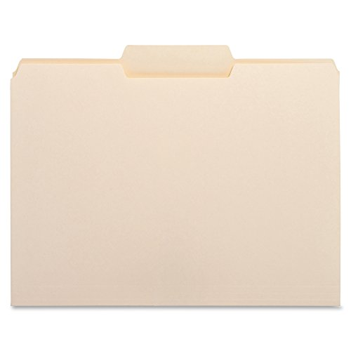 Business Source 1/3 Cut Top Tab File Folder - Middle Tab - Box of 100 Manila