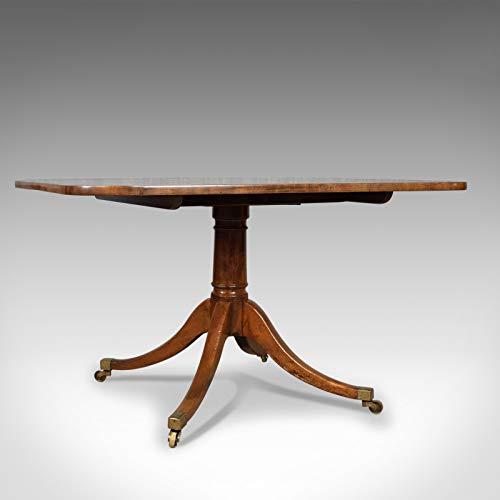 Mesa de desayuno antigua, ingles, regencia, caoba, Tilt Top, comedor Circa 1820,