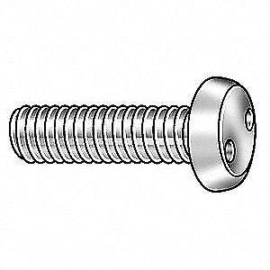 18-8 Stainless Steel Mach Screw,Pan,1//4-20 x 3 L,PK10 TAMPER-PRUF SCREW 121361
