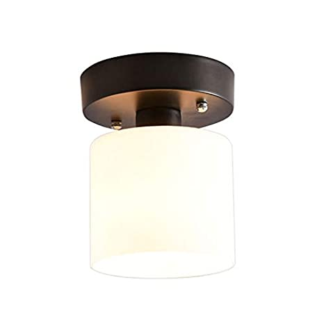 Moderno E27 pequeño pasillo lámpara de techo negro metal y ...