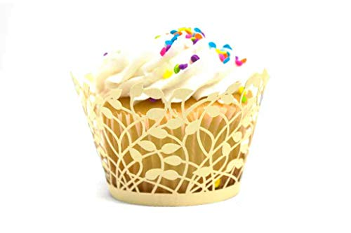 lace cupcake liners ivory - 5