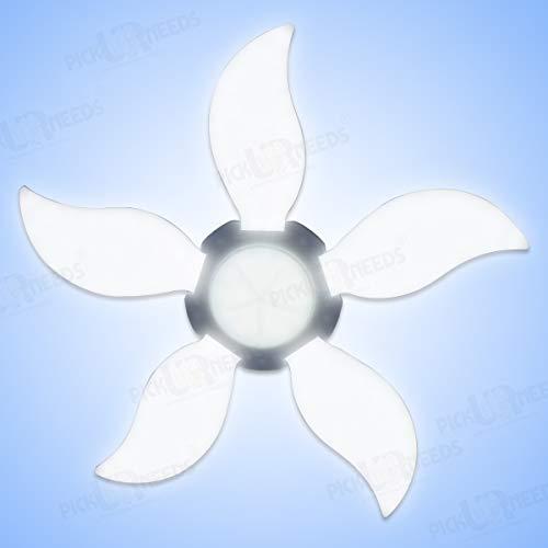 Pick Ur Needs® B22 Foldable LED Blade Light Fan Bulb, Super Bright Angle Adjustable Home Ceiling Lights, Cool White…