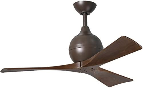 Matthews IR3-TB-WA-42 Irene 42 Outdoor Ceiling Fan with Remote Wall Control, 3 Wood Blades, Textured Bronze