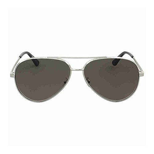 Saint Laurent CLASSIC 11 ZERO- 001 SILVER / GREY / SILVER - 11 Saint Laurent Sunglasses Classic Aviator