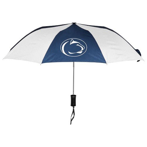 NCAA Penn State University Auto Folding Umbrella, Black