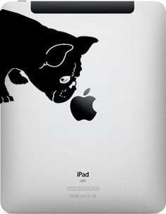 French Bulldog Sniff Decal for Ipad - Fits All ()