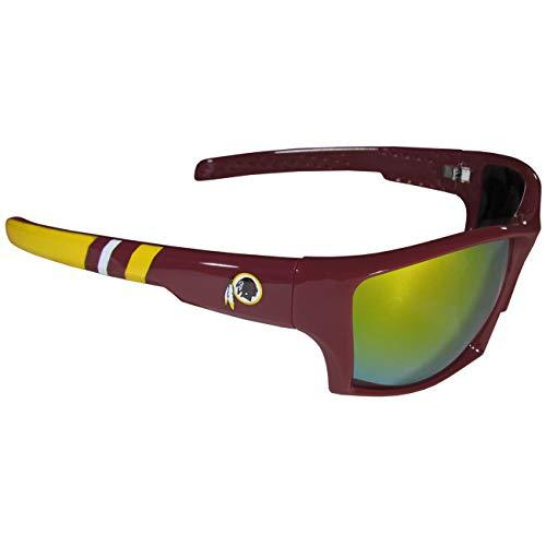 (NFL Striped Team Sports Wrap Polarized Sunglasses (Washington Redskins, Burgundy   Yellow Polarized))