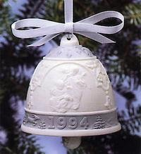 Lladro 1994 Christmas Bell Campana Navidad #16139 Angels with Musical Instruments
