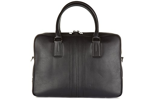 Price comparison product image Tod's briefcase attaché case laptop pc bag leather double stripe black