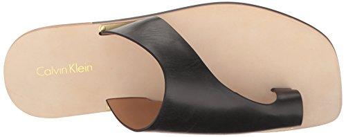Toe Women's Black Klein Rinona Calvin Ring Sandal q4t87