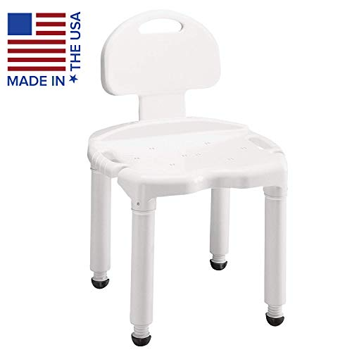Photo Carex Bath Seat And Shower Chair With Back For Seniors, Elderly, Disabled, Handicap, and Injured Persons, Supports Up To 400lbs