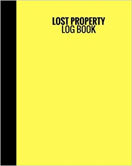 lost property log book yellow cover lost found log record all