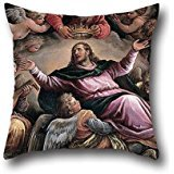 [20 X 20 Inches / 50 By 50 Cm Oil Painting Francesco Bassano The Younger - Christ In Glory Cushion Covers ,both Sides Ornament And Gift To Indoor,wife,teens Boys,club,coffee] (Hobbes Costumes For Sale)