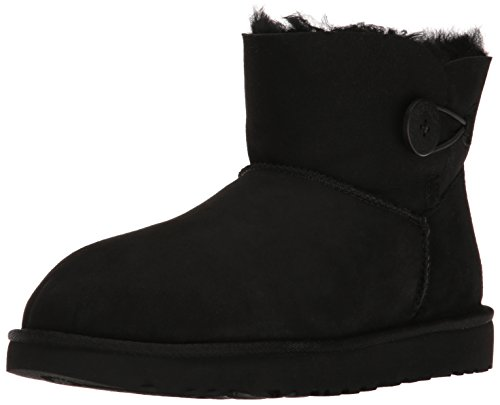 Ugg Womens Mini Bailey Button Ii Stivali Invernali Neri