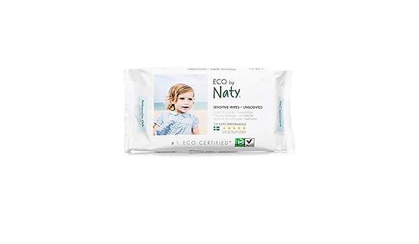 Naty por la naturaleza Eco toallitas sin perfume 56 por paquete: Amazon.es: Bebé
