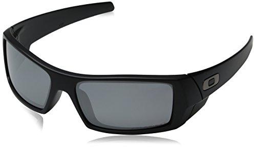 Oakley Mens GasCan Sunglasses 12-856, Matte Black Frame/Black Polarized Iridium Lens