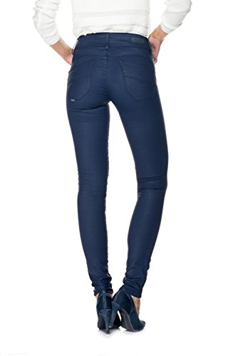 SALSA Pantalones superpitillo Push In Secret con coating Azul