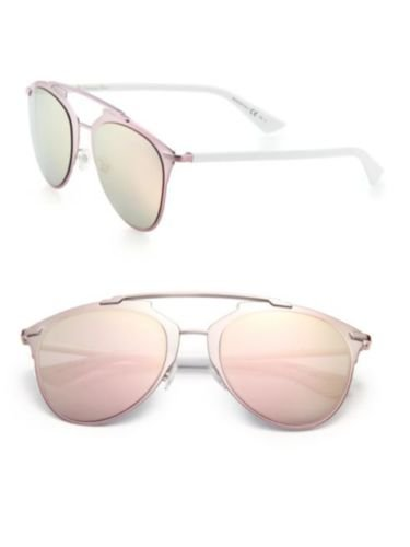 1d6b0aa853 New Christian Dior REFLECTED M2Q 0J pink white grey rose gold mirror  Sunglasses