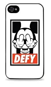 Mickey Mouse Defy Apple Iphone 4 / 4S Silicone Case - Black -697