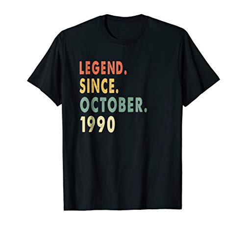 Legend Since October 1990 Shirt - Age 28th Birthday Gift