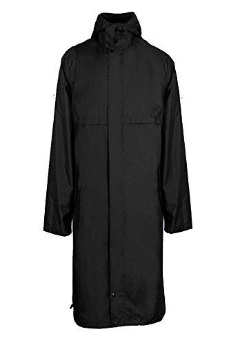Black Long Raincoat - 5