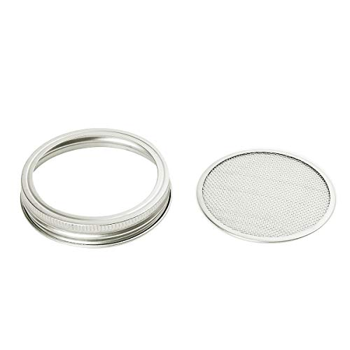 CUSFULL 6 Pack Sprouting Lids for Wide Mouth Mason Jars -Stainless Steel Strainer Lid for Canning Jars and Seed Sprouting Screen by CUSFULL (Image #4)