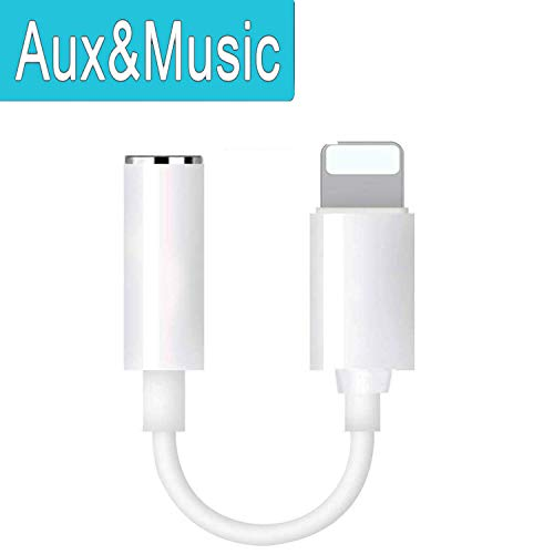 Headphone Jack Adapter for iPhone X/XS/XR/10 8/8 Plus 7/7 Plus Earphone Adaptor Headset Splitter for iPhone Adaptor to 3.5mm Aux Audio Jack Headphone Accessories Cable Earbud Adapter Support iOS 11