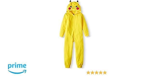 AME Boys Pikachu Hooded Union Suit Pajama Onesie (XS 4/5)