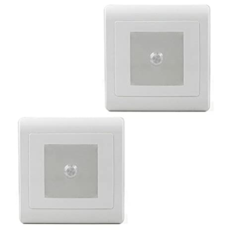 2 x MENGS 0,5 W LED de pared y lámpara de noche ideal para