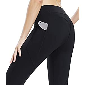 44d78a5bae THE GYM PEOPLE Compression Yoga Leggings for Women, Heart Shape Workout Yoga  Pants with Pocket Super Power Flex Fabric