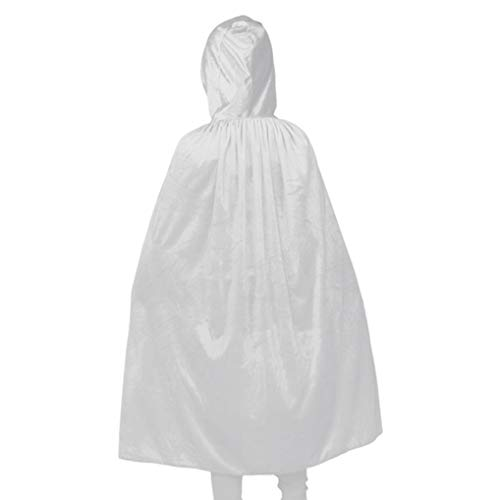 Plus Size Halloween Costumes for Kids Christmas White Hooded Cloak Cosplay Cape -