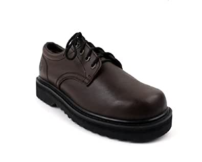 Luckers Men's Brown Oxford Shoes, Wide (9 B(M) US)