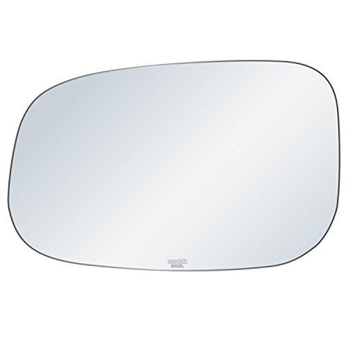 exactafit 8225L Replacement Driver Left Side Mirror Glass Flat Lens fits Volvo C30 C70 S40 S60 S80 V50 V70 by Rugged TUFF ()