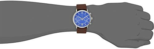 Marc by Marc Jacobs Men s MBM5066 Fergus Stainless Steel Watch with Brown Leather Band