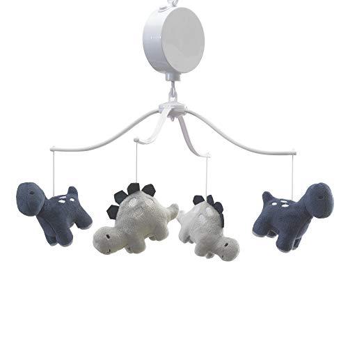 - Bedtime Originals Roar Dinosaur Musical Mobile, Blue/Gray
