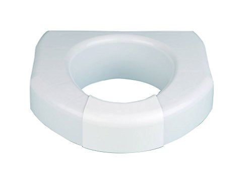 Ableware 725790000 Basic Open Front Elevated Toilet Seat, Wh