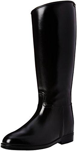 HKM–Botas de equitación para corta y amplio con cremallera Negro - negro