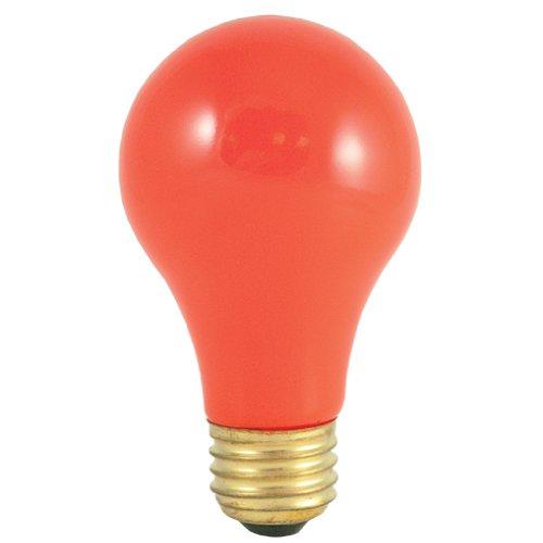 (Bulbrite 25A/CO 25-Watt Incandescent Standard A19, Medium Base, Ceramic Orange [12 Pack])