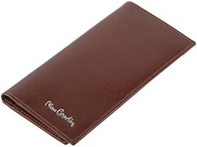 Wallet man vertical PIERRE CARDIN brown in leather portacredit cards A5174