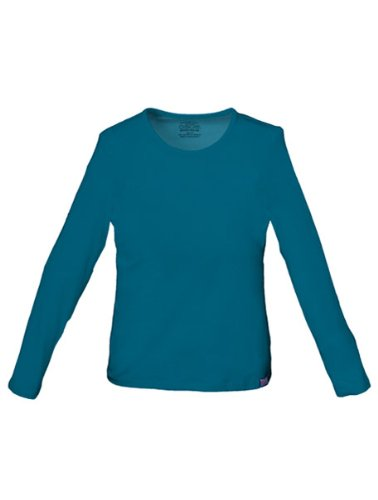 Nursing T-shirt Uniform (WorkWear 4818 Women's Long Sleeve Scrub Tee Caribbean Blue Medium)