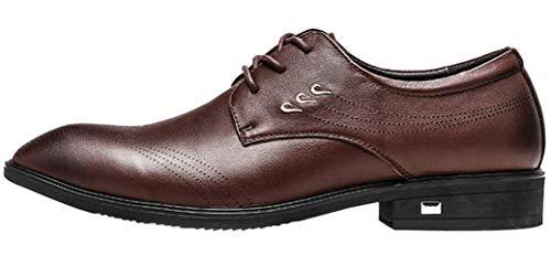 MYXUA Herrenschuhe Derby Schuhe Business Casual Schuhe Hochzeit Schuhe Schuhe Darkbrown