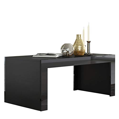 MILANO Coffee Table – Black Matte body in contrast with High Gloss finish of the laterals Black Black