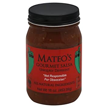 Mateos Gourmet Salsa Hot 16 oz (Pack Of 6)