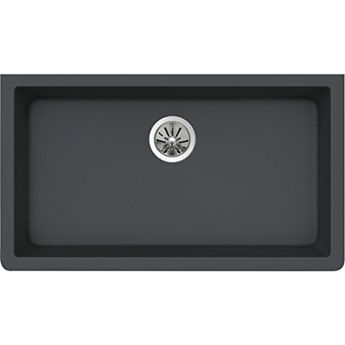 Elkay Quartz Luxe ELXRU13322CH0 Charcoal Single Bowl Undermount Sink