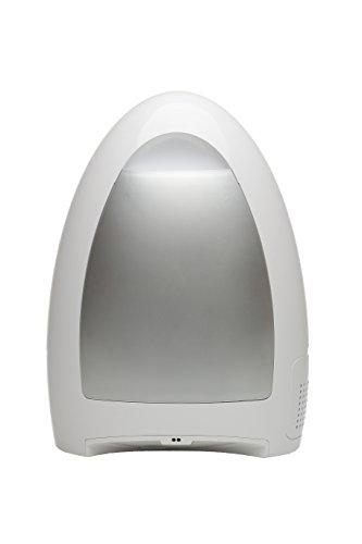 White Bagless Vacuum (EyeVac Home Touchless Stationary Vacuum, Dual (HEPA) Filtration, Corded, Bagless, Automatic Sensors, 1000 Watt, White)