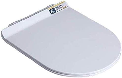 Andou Nk 便座互換性の便座Uがスローダウンサイレントスローダウン抗菌尿素 - ホルムアルデヒド樹脂肥厚トイレ蓋形状、ホワイト-46 * 36センチメートル