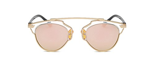 GAMT Classic Style Metal Frame Cat Eye Aviator Polarizer Sunglasses (Pink, - Eyes Rimmed Red Cats