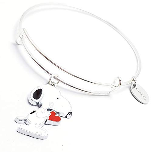 Snoopy Charlie Brown Woodstock peanuts Christmas Bracelet Charm Bangle Expandable Stainless Steel Charlie brown Super hero Bracelet, Mothers day, Gold Silver Valentines day]()